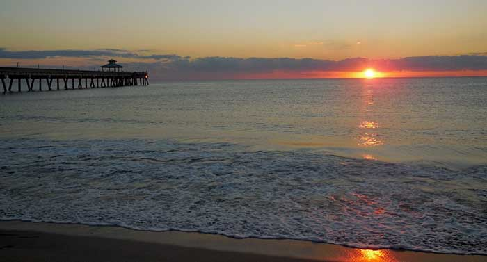 ANOTHER BEAUTIFUL SUNRISE ON DEERFIELD BEACH
