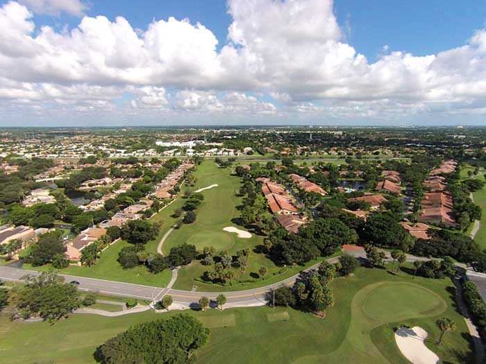 BIRDS EYE VIEW OF DEER CREEK TO BOCA RATON